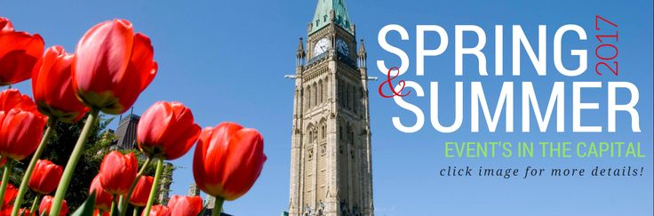 "2017 SPRING & SUMMER GUIDE OF EVENTS IN THE CAPITAL!  ""Ottawa has perfected the festival. The city takes an inclusive approach when it comes to hosting its extraordinary festivals and events, touching on nearly every interest across the entire calendar. If you love the outdoors, then Music enthusiasts have no shortage of options this year. CLICK HERE for your entire spring & summer guide of events courtesy from our friends at OttawaTourism.ca & EXCELHR!"