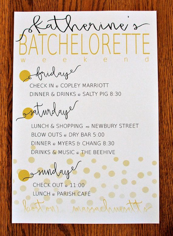 Best 25+ Bachelorette itinerary ideas on Pinterest ...