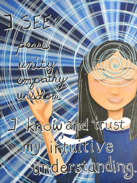 Divine Spark:  #Third #Eye #Chakra affirmation : inner vision & intuition.