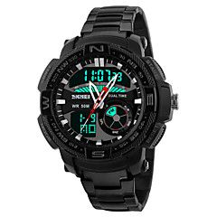 Men's Wrist watch Sport Watch Quartz Best cheap watches are cool watches too. You can buy best watches under 100 dollars. Very affordable watches and mens watch under 100. Best affordable watches - these are amazing watches below 100 bucks,  and affordable mens watches too. Chronograph Water Resistant / Water Proof LED Dual Time Zones Stainless