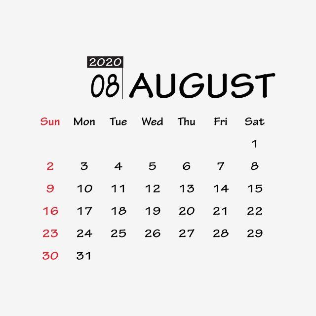 August 2020 Calendar Blank Printable August 2020 Calendar Blank Printable September 2020 Calendar Blank In 2020 Happy New Year Png Holiday Calendar October Calendar