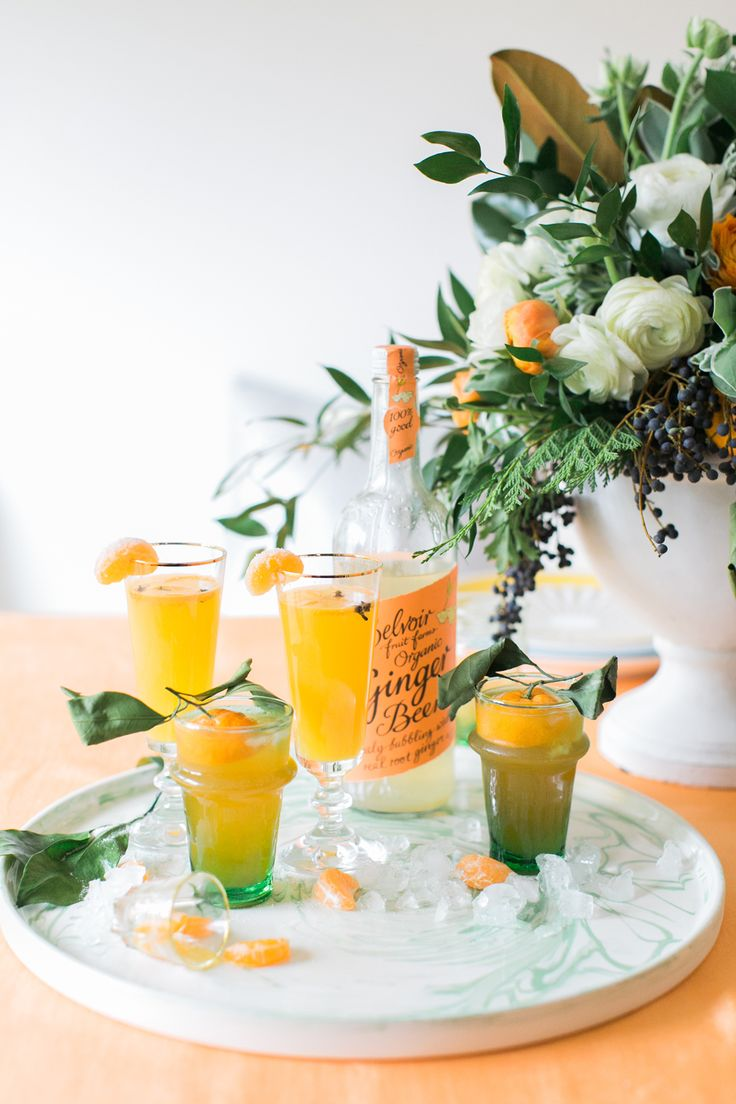 Recipe :: A Pair of Citrus & Ginger Holiday Cocktails