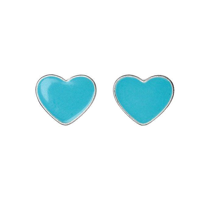 Pilgrim Jewellery Mint Blue Silver Plated Heart Earrings £9.99 Lizzielane.com http://www.lizzielane.com/product/pilgrim-jewellery-mint-blue-silver-plated-heart-earrings/