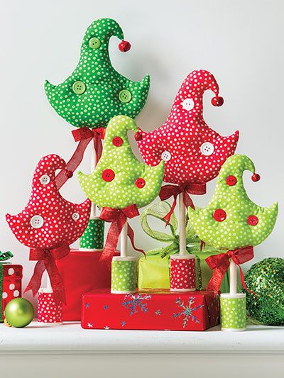 Fabric tree pattern from Christmas All Through the House pattern book from Annie's Craft Store. Order here: https://www.anniescatalog.com/detail.html?prod_id=125653&cat_id=1430