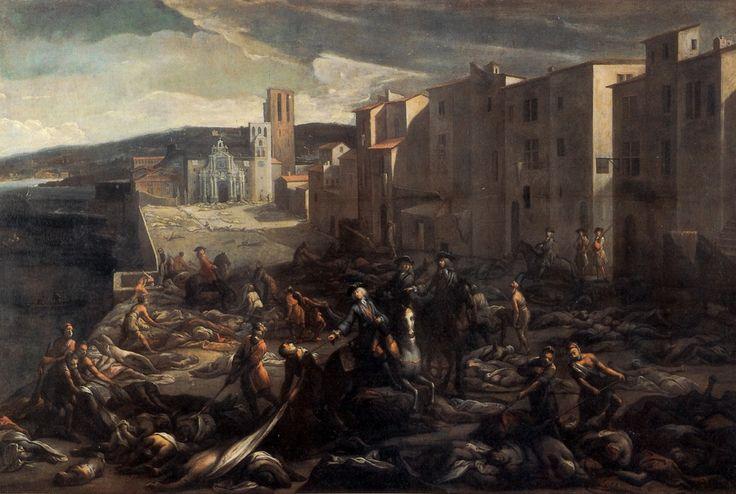 Scène de la peste de 1720 à la Tourette (Marseille) by Michel Serre.   If you were alive in the 18th century, did you have a better chance at survival: France or New France? #cdnhistory