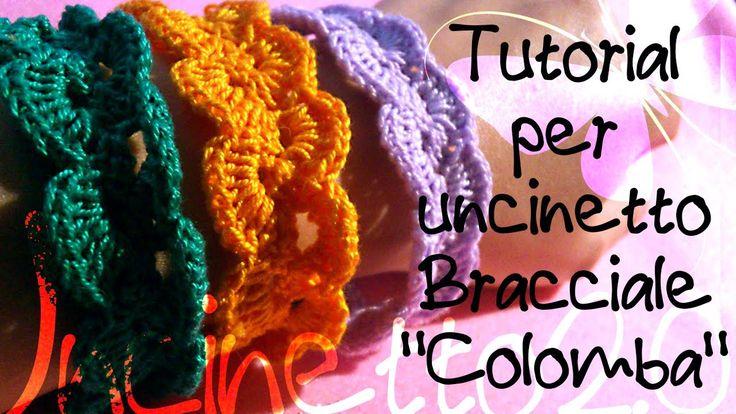 "Tutorial uncinetto - Bracciale ""Colomba"" - tutorial crochet 1,75 bracelet"