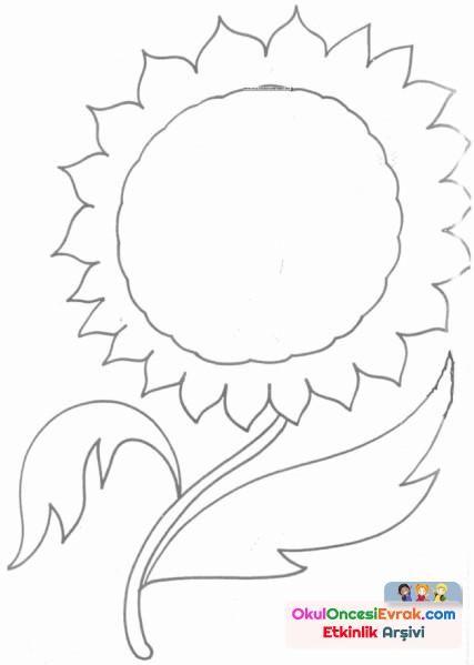 Ayçiçeği Boyama Sayfaları Ile Ilgili Görsel Sonucu Kağıt El Işleri