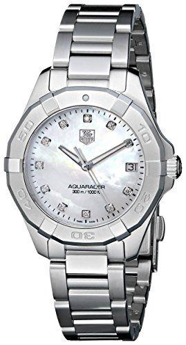 TAG Heuer Women's WAY1313.BA0915 Aquaracer Analog Display Quartz Silver Watch