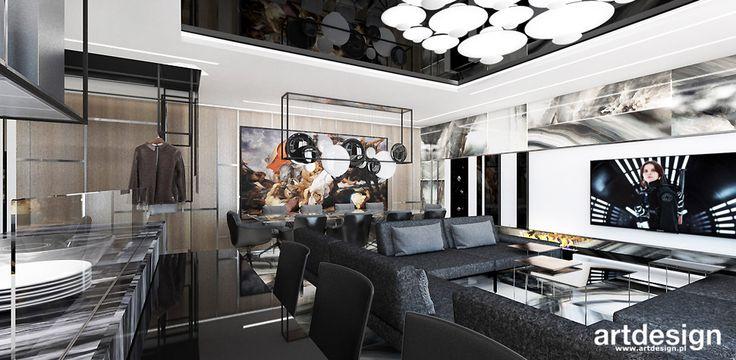 WELCOME TO THE JUNGLE | I | Wnętrza apartamentu | Salon z jadalnią i kuchnią