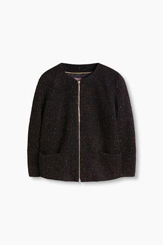 """En bouclé-jakke til arbejdet - eksempelvis denne fra Esprit (""""Boucléjakke med lurex"""")"""
