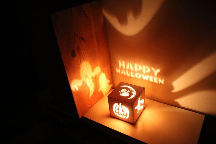 Halloween Decorations Halloween Signs Wreath Pumpkin Lantern Rustic Halloween Decorations, Witch Lantern, Ghosts, Unique Night Light