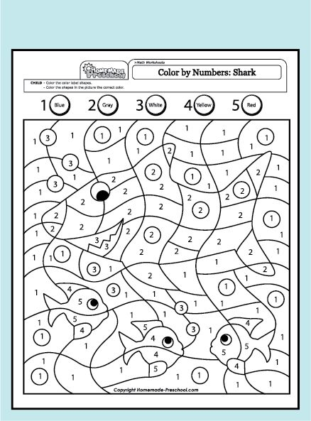 143 best color by number images on pinterest color by Coloring book for kindergarten pdf