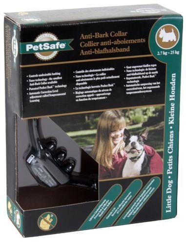 Petsafe blafband deluxe voor kleine honden  de kleinste blafband van petsafe die er is. de halsband beschikt over het gepatenteerde perfect bark systeem. welke zowel trillingen als het blafgeluid gebruikt eer het een correctie afgeeft. de halsband past het niveau van correctie zelf aan. het type nummer van deze antiblafband van petsafe is:pbc19-12443 let op. deze band is geschikt voor hondjes vanaf 3.6 kg. deze blafband wordt compleet geleverd. dus inclusief batterijen.  EUR 86.61  Meer…