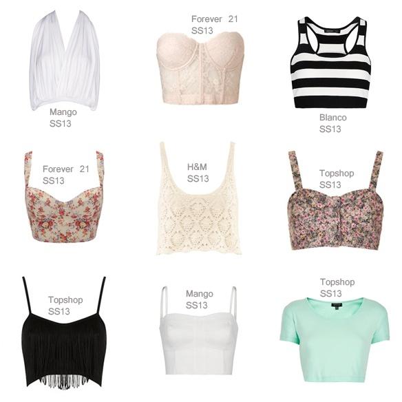 Tops  El ultra femenino corset o mini camiseta combinalos con maxi blazer, maxi faldas, pantalones y shorts de tiro alto