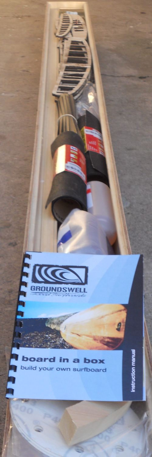 kitbox2 build your own hollow wood surfboard - http://groundswellsurfboards.co.za/