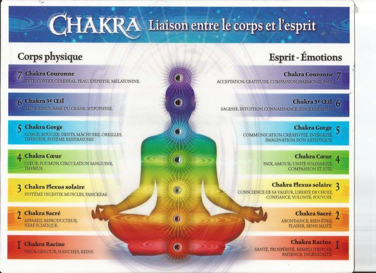 Le terme est aujourd'hui connu pour désigner les « centres spirituels » ou « points de jonction de canaux d'énergie ( les Nadis)» issus d'une conception du Kundalini Yoga et parfaitement localisés dans le corps humain. Selon cette conception, il y aurait sept chakras principaux et des milliers de chakras secondaires. Les chakras sont issus d'un système de croyances philosophiques issues de l'hindouisme. Les premiers textes qui en parlent sont écrits en sanscrit ( comme pour…
