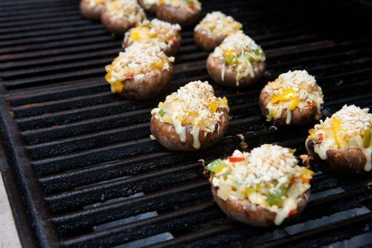 Stuffed Mushrooms — Various peppers, cheese, breadcrumbs- see recipe. GW