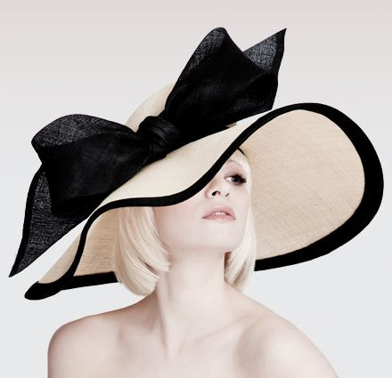 Kentucky Derby hat with bow by London based milliner Dillon Wallwork
