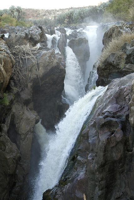 Epupa Falls, Namibia, Africa. Africa is full of beautiful waterfalls. #nature #motherland #beauty