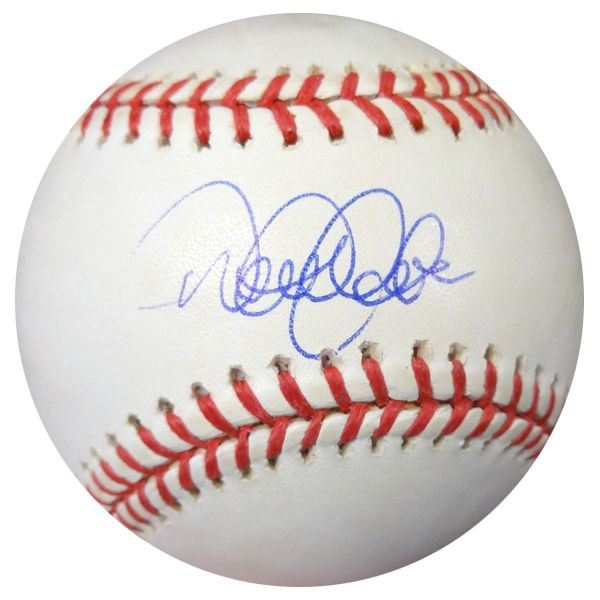 Derek Jeter Autographed Official MLB Baseball New York Yankees Steiner Holo #103239