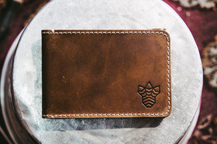 carteira masculina slim de couro