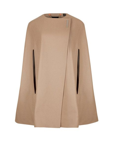A quality cape is on my must have list for fall! Woollen cape - Taupe | Jackets & Coats | Ted Baker