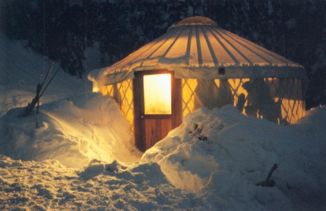 It's All About the Yurts  Yurts stand the test of time, are eco-friendly and you can even live in one in the middle of the snow.   Learn more at The Tiny Life.