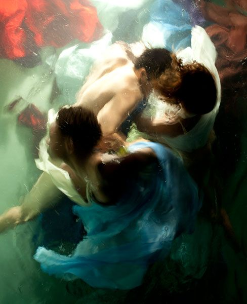Underwater photos that miimic the look of Baroque paintings. By Christy Lee Rogers.