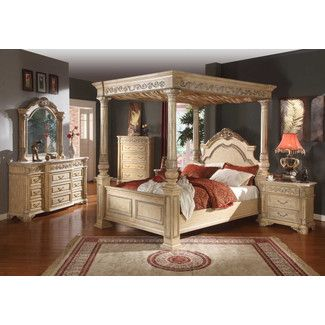 Meridian Furniture USA Sienna Canopy Customizable Bedroom Set · King Size  ...