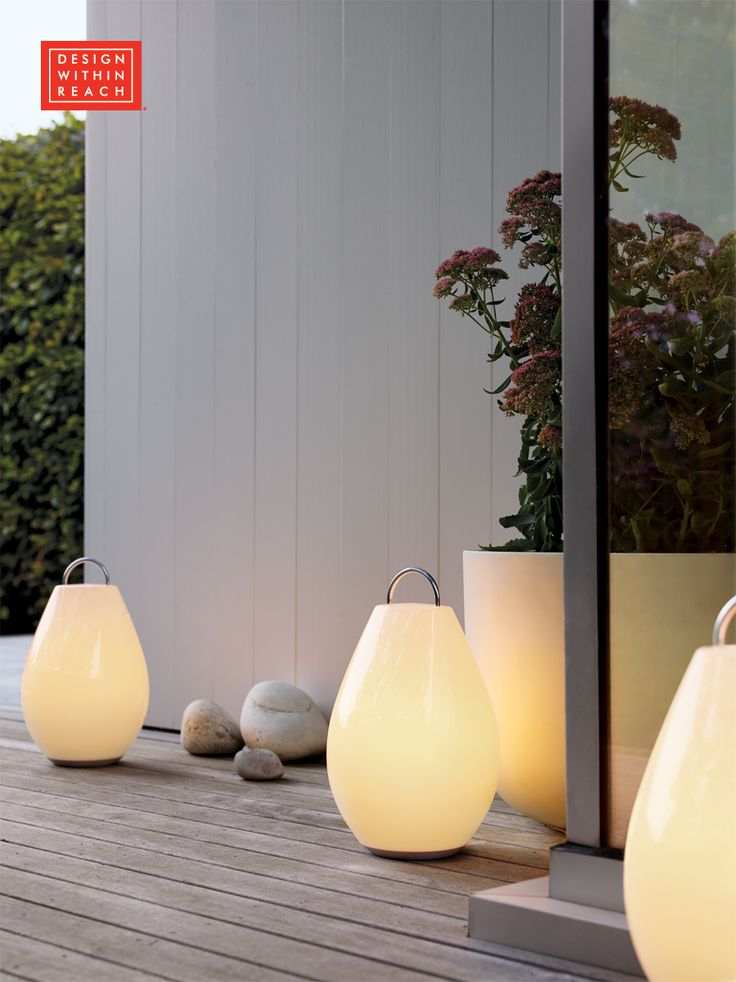 The Luau® Portable LED Lamp is the go-anywhere light of your summer life. Its battery keeps the dimmable LED lights inside going for 5–10 hours per charge so you can take it to the picnic table and then to the chaise to keep the party going. Afterward, just pop Luau back onto its charging base. A DWR Exclusive.We make modern design accessible. Shop dwr.com