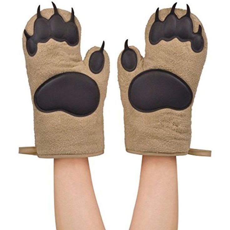 Bear Paw Oven Mitts Cotton Gloves Potholder Hot Pad Heat Resistant Kitchen New #FredFriends