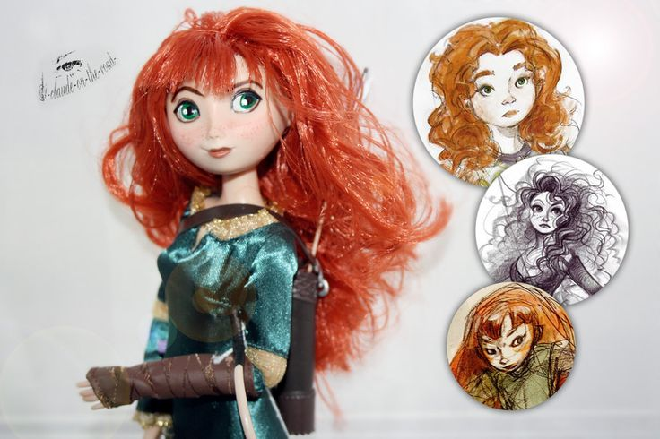 Disney/Pixar Merida | Concept Art Inspired Repaint by claude-on-the-road on DeviantArt