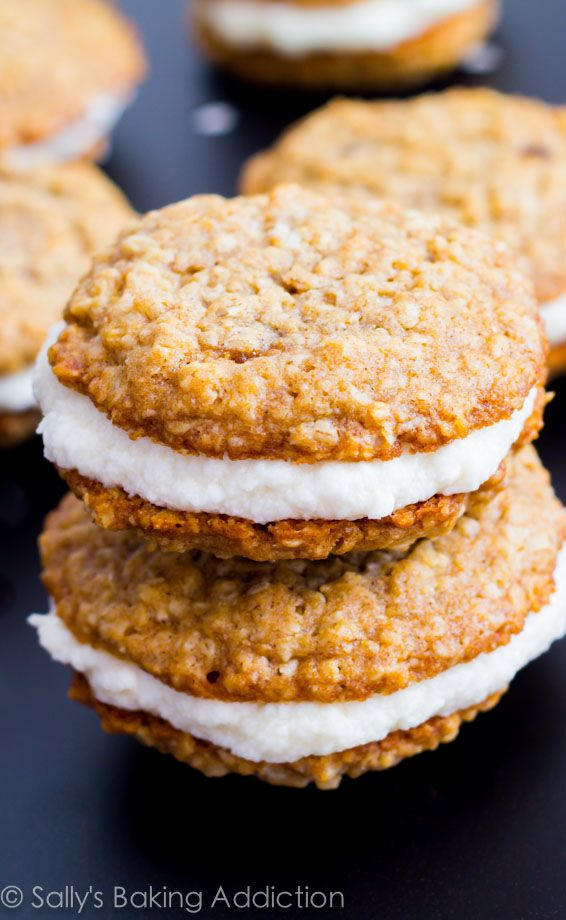 Homemade Little Debbie Oatmeal Creme Pies.