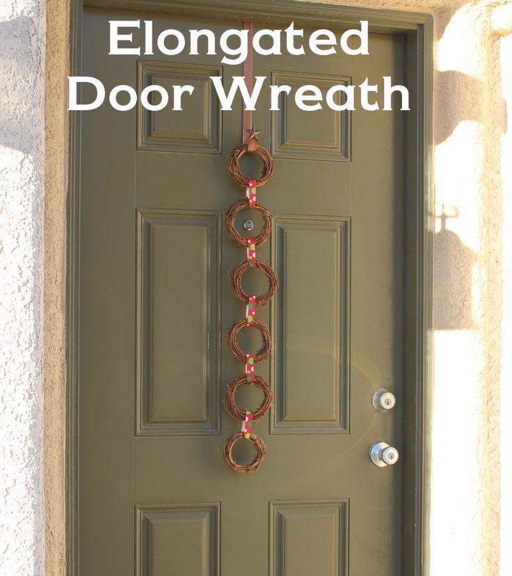 Elongated Door Wreath | Wreath ideas | Pinterest | Door