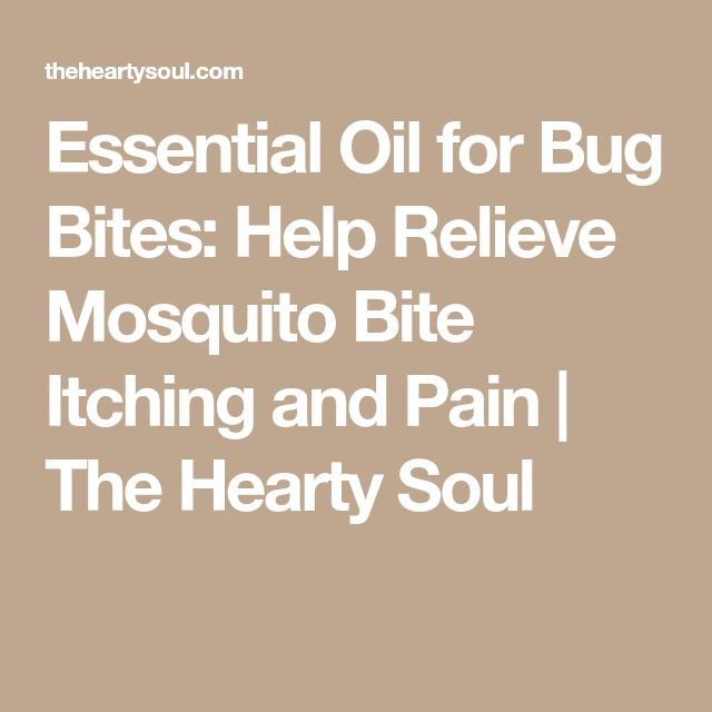 Essential Oil for Bug Bites: Help Relieve Mosquito Bite Itching and Pain | The Hearty Soul