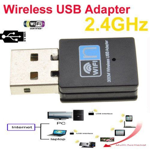Suitable USB 2.0 Wireless 802.11N 300Mbps WiFi 802.11b/g/n Wireless 2.4G Adapter by Neewer. $10.32. Features:  * Supports Roaming technology, guaranteeing efficient wireless connections * DSSS with DBPSK and DQPSK, CCK modulation with long and short preamble  * Programmable scaling in transmitter and receiver to trade quantization noise against increased probability of clipping  * Fast receiver Automatic Gain Control (AGC)  Specification:  * Type: USB 2.0 Wireless Lit...