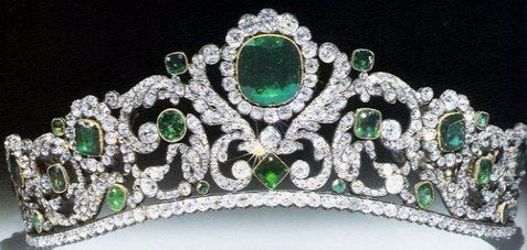 Marie Therese Duchess d' Angouleme Emerald and Diamond Tiara ...