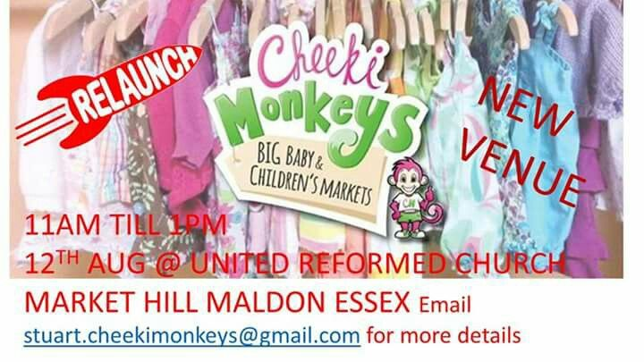 Cheeki monkeys markets are relaunching on Saturday 12th at United Reformed Church hall on Market Hill at 11am till 1pm so come along and grab yourself a bargain
