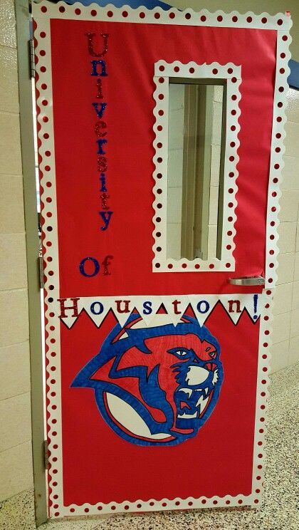 University Of Houston Cougars Classroom Door College
