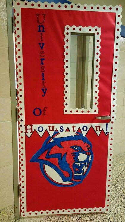 Texas History Classroom Decorations ~ University of houston cougars classroom door college