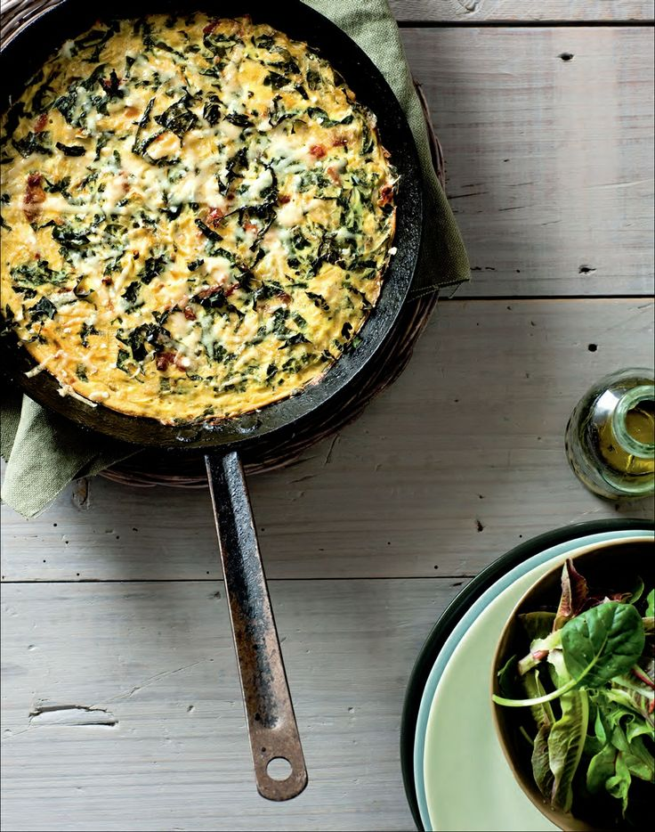 Silverbeet and sundried tomato frittata recipe by Ian Thorpe | Cooked