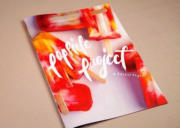 Desain Buku Resep Masakan - Popsicle Project oleh Rachel Beyer