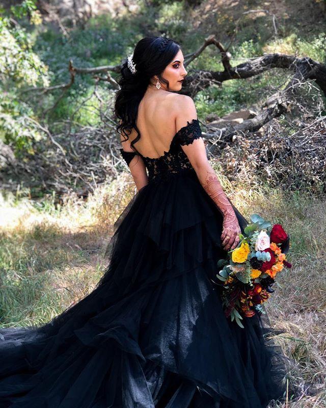 Custom Black Wedding Dress Halloween Wedding Goth Wedding