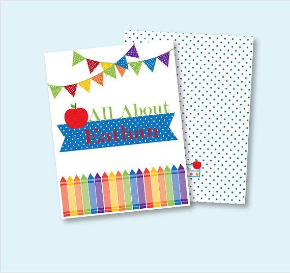 School Binder Cover  Back to School  Primary by ColorInkStudio