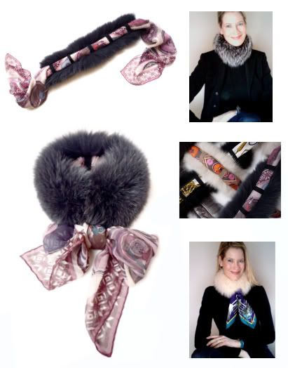Lots of great ideas for scarves & other accessories. MaiTai's Picture Book: Scarf fur band