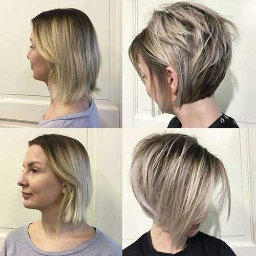 Schicke Ideen Über Kurze Asche Blonde Frisuren