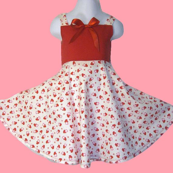Toddler Girls Valentineu0027s Dress 4T Ready To Ship, Girls Valentine Dress,  Red Dress,