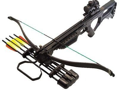 Bowhunting 159037: Precision Shooting 42247 Jolt Crossbow Package Red Dot Scope ...