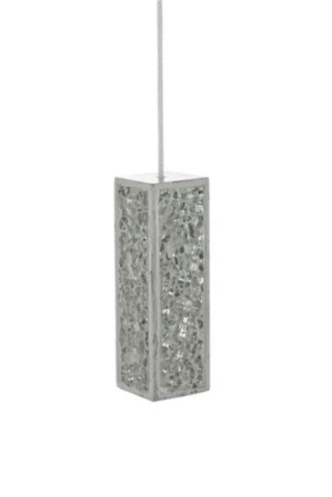 NEXT RESIN SILVER CRACKLE SPARKLE MIRROR GLITTER BATHROOM LIGHT PULL