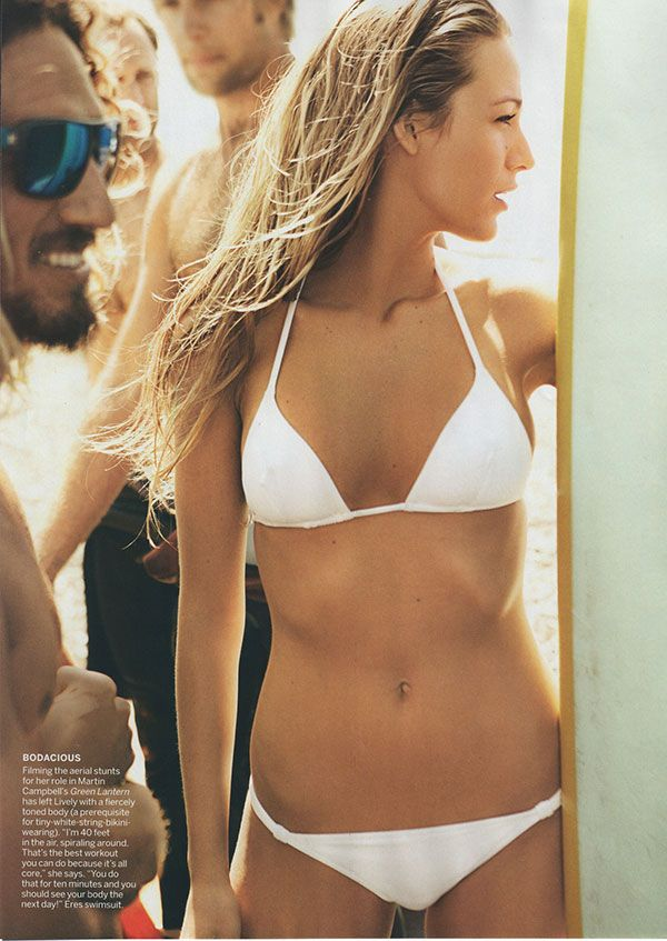 Blake Lively, you make me sick. The white bikini is the ultimate skinny girl slap in the face, lol